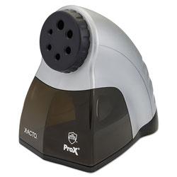 X-Acto Model 1612 Quiet Pro Electric Pencil Sharpener, AC-Powered, 3 x 5 x 9, Black/Silver/Smoke
