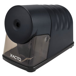 X-Acto Powerhouse Office Electric Pencil Sharpener, AC-Powered, 3 in x 6.25 in x 4.5 in, Black