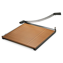 Elmer's Square Commercial Grade Wood Base Guillotine Trimmer, 20 Sheets, 24 in x 24 in