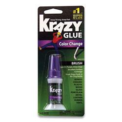 Krazy Glue Color Change Brush On Glue, 0.18 oz, Dries Clear