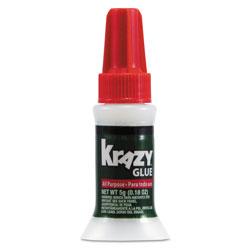 Krazy Glue All Purpose Brush-On Krazy Glue, 0.17 oz, Dries Clear