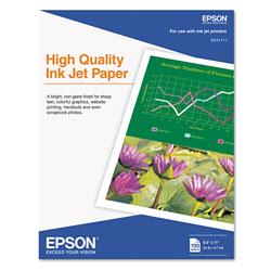 Epson High Quality Inkjet Paper, 4.7 mil, 8.5 x 11, Matte White, 100/Pack