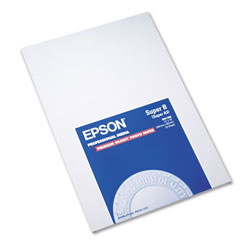 Epson Premium Photo Paper, 10.4 mil, 13 x 19, High-Gloss White, 20/Pack