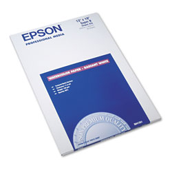 Epson Watercolor Radiant White Inkjet Paper, 11.5 mil, 13 x 19, Matte White, 20/Pack