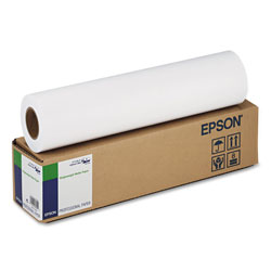 Epson Singleweight Matte Paper, 2 in Core, 5 mil, 17 in x 131 ft, Matte White