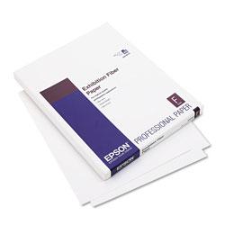 Epson Exhibition Fiber Paper, 13 mil, 8.5 x 11, White, 25/Pack