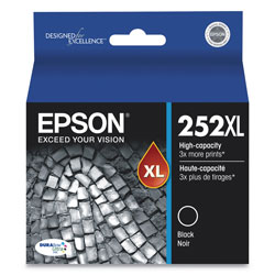 Epson T252XL120S (252XL) DURABrite Ultra High-Yield Ink, 1100 Page-Yield, Black