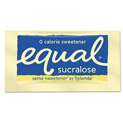 Equal® Zero Calorie Sweetener, 0.035 oz Packet, 100/Box, 12 Box/Carton