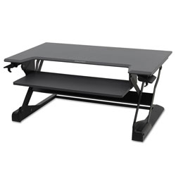 Ergotron WorkFit-TL Desktop Sit-Stand Workstation, 37.5w x 25d x 20h, Black