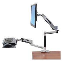 Ergotron WorkFit-LX Sit-Stand Workstation Mount System, Polished Aluminum