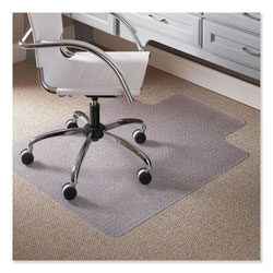 E.S. Robbins Task Series Chair Mat with AnchorBar for Carpet up to 0.25 in, 36 x 48, Clear