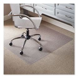E.S. Robbins Task Series AnchorBar Chair Mat for Carpet up to 0.25 in, 46 x 60, Clear
