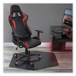E.S. Robbins Game Zone Chair Mat, For Hard Floor/Medium Pile Carpet, 42 x 46, Black