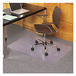 E.S. Robbins Task Series AnchorBar Chair Mat for Carpet up to 0.13 in, 36 x 44, Clear