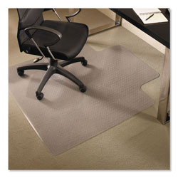 E.S. Robbins EverLife Chair Mats for Medium Pile Carpet with Lip, 45 x 53, Clear