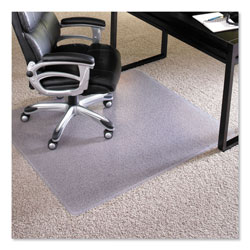 E.S. Robbins Performance Series AnchorBar Chair Mat for Carpet up to 1 in, 46 x 60, Clear