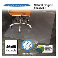 E.S. Robbins Natural Origins Chair Mat for Hard Floors, 46 x 60, Clear