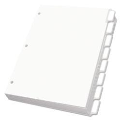 Oxford Custom Label Tab Dividers with Self-Adhesive Tab Labels, 8-Tab, 11 x 8.5, White, 25 Sets