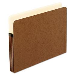 Pendaflex Smart Shield File Pocket, 3.5 in Expansion, Letter Size, Red Fiber, 10/Box