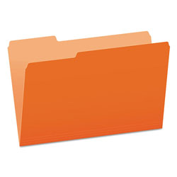 Pendaflex Colored File Folders, 1/3-Cut Tabs, Legal Size, Orange/Light Orange, 100/Box