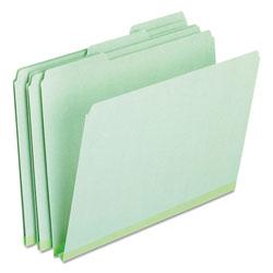 Pendaflex Pressboard Expanding File Folders, 1/3-Cut Tabs, Letter Size, Green, 25/Box