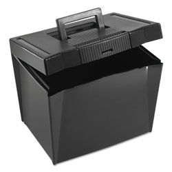 Pendaflex Portable Letter Size File Box, Letter Files, 13.5 in x 10.25 in x 10.88 in, Black