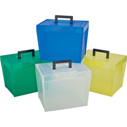 TOPS File Box, w/ Latch Closures/Handles, Letter, Assorted