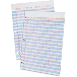 Ampad Data Pad, 9 Columns, 31 Lines, 8-1/2 in x 11 in, White