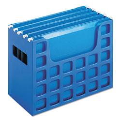 Pendaflex Desktop File w/Hanging Folders, Letter, Plastic, 12 1/4 x 6 x 9 1/2, Blue