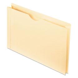 Pendaflex Manila Reinforced File Jackets, 2-Ply Straight Tab, Legal Size, Manila, 50/Box