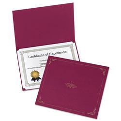 Oxford Certificate Holder, 11 1/4 x 8 3/4, Burgundy, 5/Pack