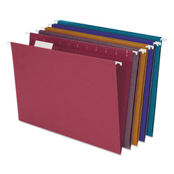 Pendaflex Earthwise by Pendaflex 100% Recycled Colored Hanging File Folders, Letter Size, 1/5-Cut Tab, Assorted, 20/Box