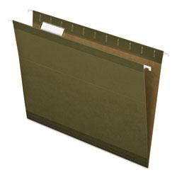 Pendaflex Reinforced Hanging File Folders, Letter Size, 1/5-Cut Tab, Standard Green, 25/Box