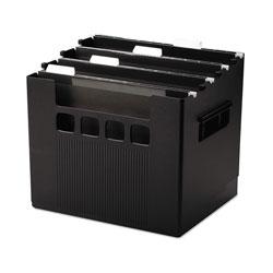 Pendaflex Desktop File w/Hanging Folders, Letter, Plastic, 12 3/4 x 10 x 11, Black