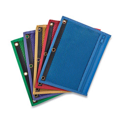 Esselte Mesh Binder Pockets, 10.5 x 7.5, Assorted Colors