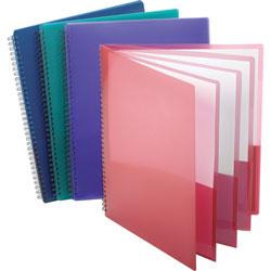 Oxford 8-Pocket Folder, Wire Bind, Letter, 200 Sh Capacity, Assorted