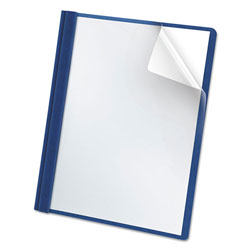 Oxford Premium Paper Clear Front Cover, 3 Fasteners, Letter, Blue, 25/Box