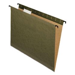 Pendaflex SureHook Hanging Folders, Letter Size, 1/5-Cut Tab, Standard Green, 20/Box