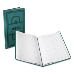 Boorum & Pease Record/Account Book, Journal Rule, Blue, 150 Pages, 12 1/8 x 7 5/8