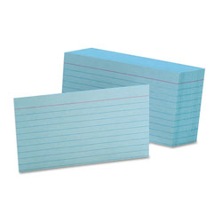 Oxford Ruled Index Cards, 3 x 5, Blue, 100/Pack