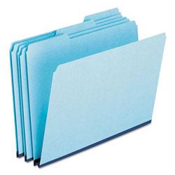 Pendaflex Pressboard Expanding File Folders, 1/3-Cut Tabs, Letter Size, Blue, 25/Box