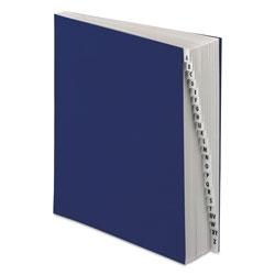 Pendaflex Expanding Desk File, A-Z, Letter Size, Acrylic-Coated Pressboard, Dark Blue
