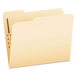Pendaflex Manila Folders with One Fastener, 1/3-Cut Tabs, Letter Size, 50/Box