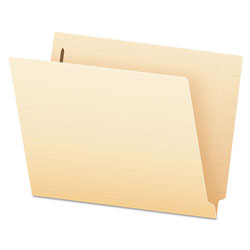 Pendaflex Manila End Tab Expansion Folders with Two Fasteners, 14-pt., 2-Ply Straight Tabs, Letter Size, 50/Box