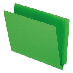 Pendaflex Colored End Tab Folders with Reinforced 2-Ply Straight Cut Tabs, Letter Size, Green, 100/Box