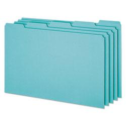Pendaflex Blank Top Tab File Guides, 1/5-Cut Top Tab, Blank, 8.5 x 14, Blue, 50/Box