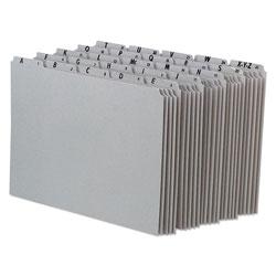 Pendaflex Top Tab A-Z File Guides, 1/5-Cut Top Tab, A to Z, 8.5 x 11, Gray, 25/Set