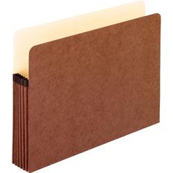 Pendaflex Pocket File, 5.25 in Expansion, Letter Size, Red Fiber