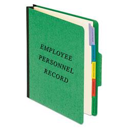 Pendaflex Vertical Style Personnel Folders, 1/3-Cut Tabs, Center Position, Letter Size, Green