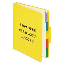 Pendaflex Vertical Style Personnel Folders, 1/3-Cut Tabs, Center Position, Letter Size, Yellow